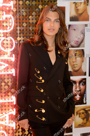Stock Image of Pat McGrath Muse Damian Hurley launches the Pat McGrath Labs new product range, 'Sublime Perfection: The System' at Selfridges