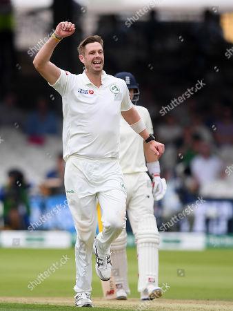 England vs Ireland. Boyd Rankin of Ireland celebrates the wicket of Moeen Ali