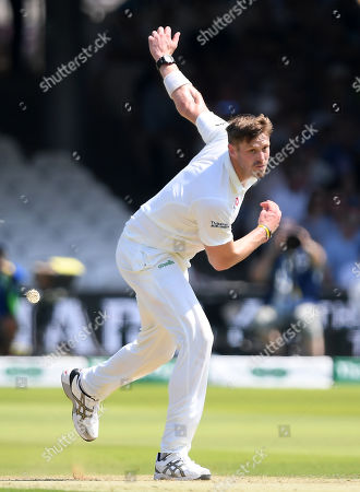 England vs Ireland. Boyd Rankin of Ireland bowls