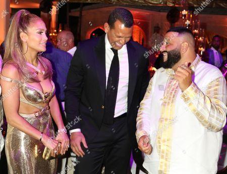 Jennifer Lopez, Alex Rodriguez and DJ Khaled
