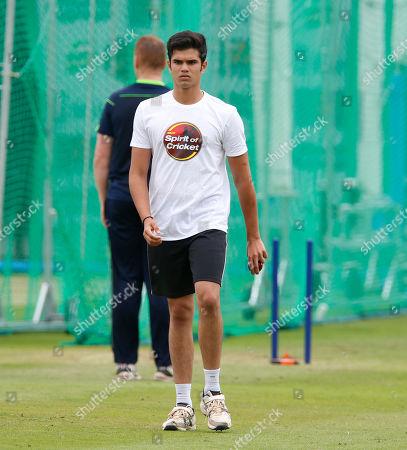 Arjun Tendulkar the son of former India player Sachin Tendulkar