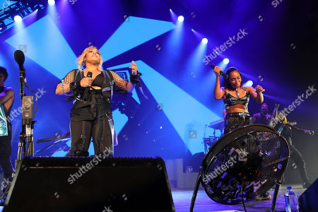 T-Boz, Chilli. T-Boz and Chilli with TLC performs at Cellairis Amphitheatre at Lakewood, in Atlanta