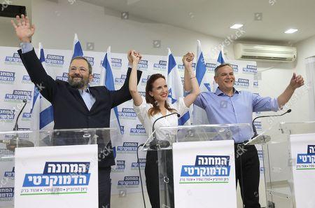 Editorial picture of Former Israeli prime minister Ehud Barak led a political union, Tel Aviv, Israel - 25 Jul 2019