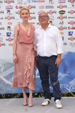 Stock Picture of Amber Heard, Claudio Gubitosi