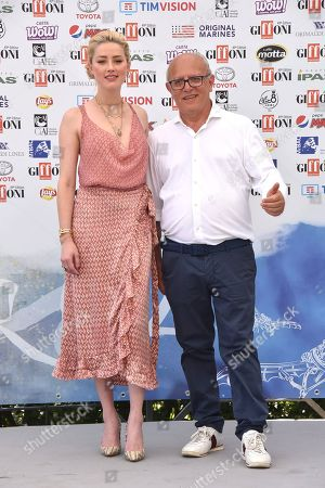 Stock Photo of Amber Heard, Claudio Gubitosi