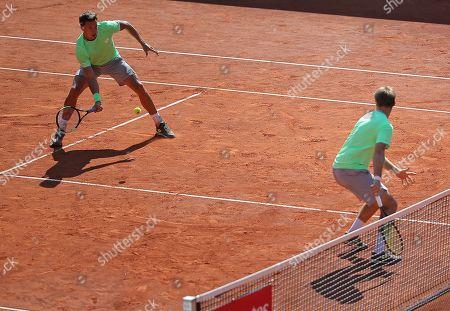 24.07.2019, ATP-Tennisturnier Herren, Hamburg European Open 2019, Doppel 1. round. (L-R) Andreas Mies (GER) and Kevin Krawietz (GER)