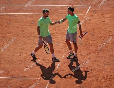 24.07.2019, ATP-Tennisturnier Herren, Hamburg European Open 2019, Doppel 1. round. (L-R) Kevin Krawietz (GER) and Andreas Mies (GER)