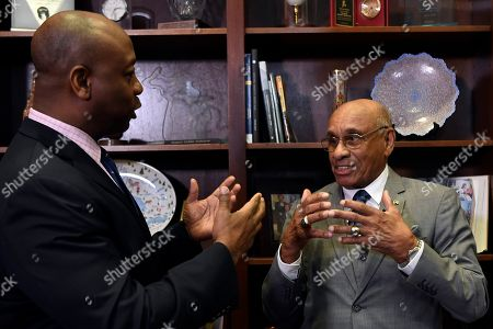 Willie O'Ree, Tim Scott. Willie O'Ree, right, the first black player to compete in the NHL, talks during a meeting with Sen. Tim Scott, R-S.C., left, on Capitol Hill in Washington, . Scott and Sen. Debbie Stabenow, D-Mich., announced their bipartisan legislation to award the Congressional Gold Medal to O'Ree