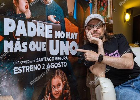 Santiago Segura poses for the media during the presentation of his last film 'Padre no hay mas que uno' (lit. Father there is only one) at Cines Palafox in Zaragoza, Spain, 25 July 2019.