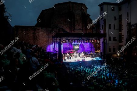 Stock Image of US band Donny McCaslin Quintet performs on stage at the Jazzaldia Music Fest in San Sebastian, Basque Country, northern Spain, 25 July 2019. The 54th Jazzaldia Jazz Festival runs from 24 to 28 July.