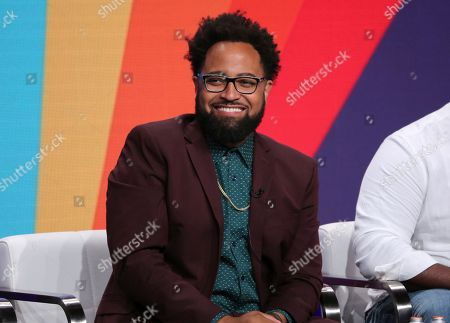 """Co-creator Diallo Riddle participates in IFC's """"Sherman's Showcase"""" panel at the Television Critics Association Summer Press Tour, in Beverly Hills, Calif"""