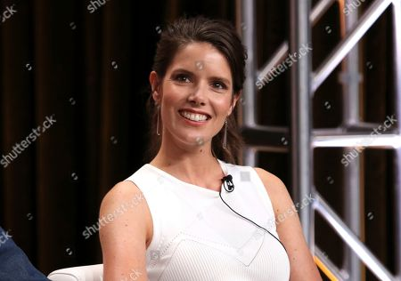 "Sonya Cassidy participates in AMC's ""Lodge 49"" panel at the Television Critics Association Summer Press Tour, in Beverly Hills, Calif"