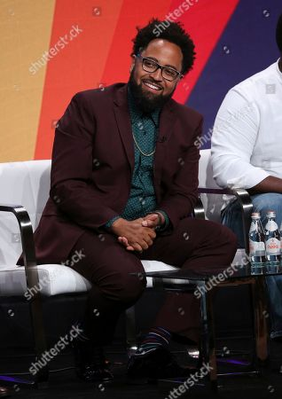 """Creators Diallo Riddle participates in IFC's """"Sherman's Showcase"""" panel at the Television Critics Association Summer Press Tour, in Beverly Hills, Calif"""