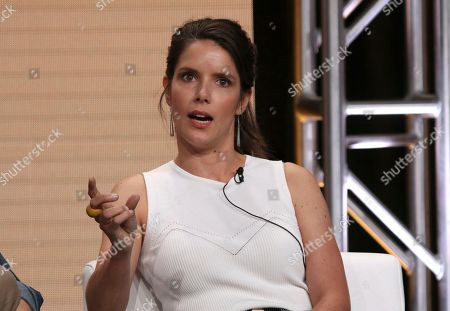 "Stock Picture of Sonya Cassidy participates in AMC's ""Lodge 49"" panel at the Television Critics Association Summer Press Tour, in Beverly Hills, Calif"