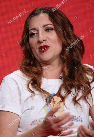 "Co-creator/star Aurora Browne participates in IFC's ""Baroness von Sketch"" panel at the Television Critics Association Summer Press Tour, in Beverly Hills, Calif"