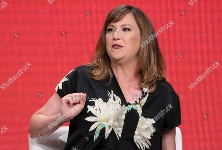 "Co-creator/star Jennifer Whalen participates in IFC's ""Baroness von Sketch"" panel at the Television Critics Association Summer Press Tour, in Beverly Hills, Calif"