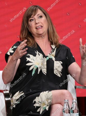 """Stock Image of Co-creator/star Jennifer Whalen participates in IFC's """"Baroness von Sketch"""" panel at the Television Critics Association Summer Press Tour, in Beverly Hills, Calif"""