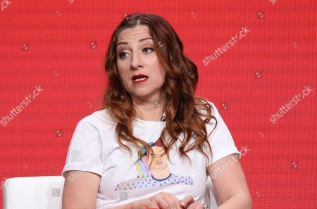 """Stock Photo of Co-creator/star Aurora Browne participates in IFC's """"Baroness von Sketch"""" panel at the Television Critics Association Summer Press Tour, in Beverly Hills, Calif"""