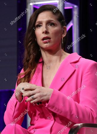 """Executive producer/co-creator Shoshannah Stern participates in Sundance TV's """"This Close"""" panel at the Television Critics Association Summer Press Tour, in Beverly Hills, Calif"""