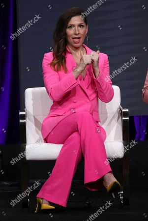 """Stock Image of Executive producer/co-creator Shoshannah Stern participates in Sundance TV's """"This Close"""" panel at the Television Critics Association Summer Press Tour, in Beverly Hills, Calif"""