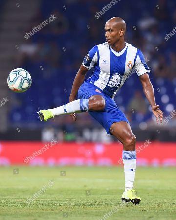 Stock Image of Edinaldo Gomes Naldo of RCD Espanyol controls the ball