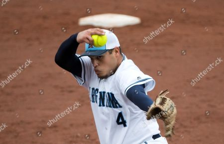 Federico Eder of Argentina in action during a Softball game of the preliminary round between Argentina vs. Mexico at Lima 2019 Pan American Games, in Lima, Peru, 25 July 2019. The Lima 2019 Pan American Games will run from 26 July to 11 August.