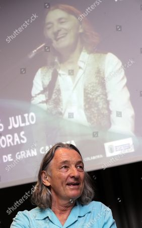 Roger Hodgson, founder of Supertramp, poses for the media during the presentation of his concerts in Canary Islands, in Las Palmas de Gran Canaria, Spain, 25 July 2019.