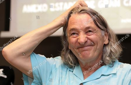 Stock Picture of Roger Hodgson, founder of Supertramp, poses for the media during the presentation of his concerts in Canary Islands, in Las Palmas de Gran Canaria, Spain, 25 July 2019.