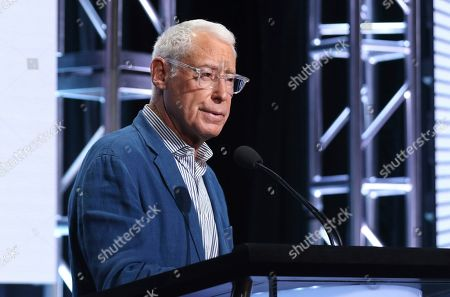Henry Schleiff, group president, Investigation Discovery, Travel Channel, American Heroes Channel and Destination America, speaks during Investigation Discovery's portion of the Television Critics Association Summer Press Tour, in Beverly Hills, Calif