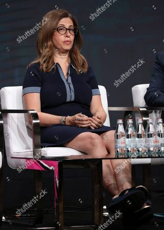 """Executive producer Hilary Estey McLoughlin participates in Investigation Discovery's """"Truth About Murder with Sunny Hostin"""" panel at the Television Critics Association Summer Press Tour, in Beverly Hills, Calif"""