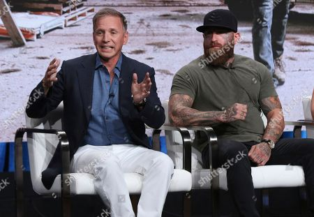 "Stock Image of Glenn Stearns, RJ Messenger. Glenn Stearns, left, and RJ Messenger participate in TLC's ""Undercover Billionaire"" panel at the Television Critics Association Summer Press Tour, in Beverly Hills, Calif"