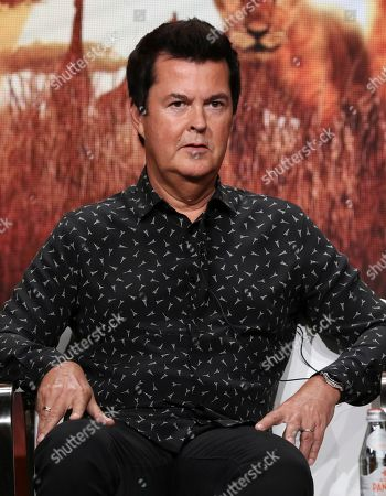 """Creator/producer Simon Fuller participates in Discovery Channel's """"Serengeti"""" panel at the Television Critics Association Summer Press Tour, in Beverly Hills, Calif"""