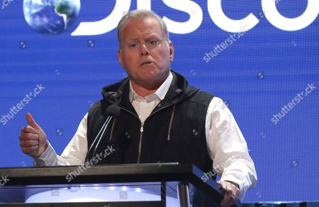 David Zaslav, president and CEO, Discovery, speaks at the Television Critics Association Summer Press Tour, in Beverly Hills, Calif