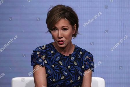 """Stock Photo of Co-host Lisa Joyner speaks in TLC's """"Taken At Birth"""" panel at the Television Critics Association Summer Press Tour, in Beverly Hills, Calif"""