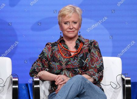 "Member of ""The Brady Bunch,"" cast Eve Plumb participates in HGTV's ""A Very Brady Renovation"" panel at the Television Critics Association Summer Press Tour, in Beverly Hills, Calif"