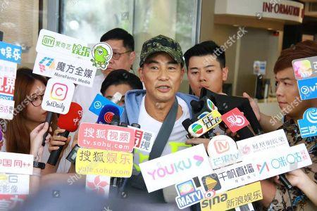 Editorial image of Simon Yam leaves hospital, Hong Kong, China - 24 Jul 2019