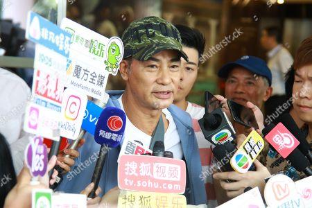Editorial photo of Simon Yam leaves hospital, Hong Kong, China - 24 Jul 2019