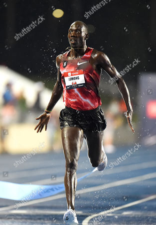 Lopez Lomong wins the Men's 10,000m during USA Outdoor Track and Field Championships at Drake Stadium in Des Moines, Iowa, USA, 25 July 2019. The Championships take place 25 July to 28 July 2019.