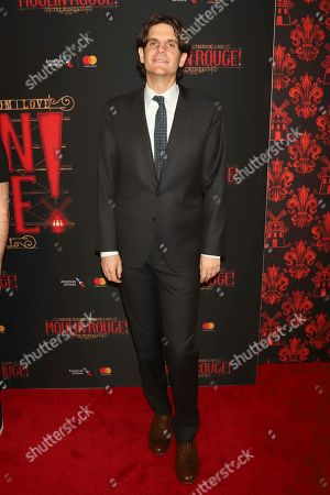 """Stock Image of Alex Timbers attends the Broadway opening night of """"Moulin Rouge! The Musical"""" at the Al Hirschfeld Theatre, in New York"""
