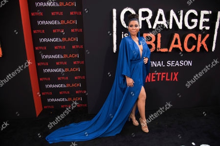 "Jessica Pimentel attends the final season premiere of Netflix's ""Orange Is the New Black"" at Alice Tully Hall, in New York"