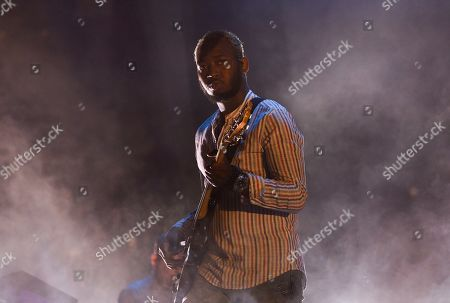 Musician Isaiah Sharkey performs at Madison Square Garden, in New York