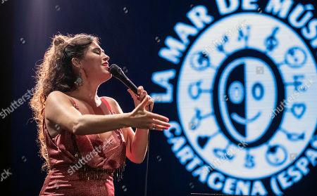 Silvia Perez Cruz performs during the 25th La Mar de Musicas Festival in Cartagena, Spain, 25 July 2019.