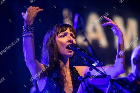 Maria de Medeiros performs during the 25th La Mar de Musicas Festival in Cartagena, Spain, 25 July 2019.