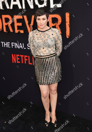 "Yael Stone attends the final season premiere of Netflix's ""Orange Is the New Black"" at Alice Tully Hall, in New York"