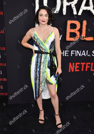 """Ismenia Mendes attends the final season premiere of Netflix's """"Orange Is the New Black"""" at Alice Tully Hall, in New York"""