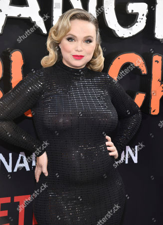 "Amanda Fuller attends the final season premiere of Netflix's ""Orange Is the New Black"" at Alice Tully Hall, in New York"