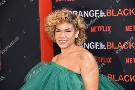 """Stock Image of Daniella De Jesus attends the final season premiere of Netflix's """"Orange Is the New Black"""" at Alice Tully Hall, in New York"""
