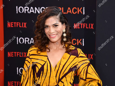 "Laura Gomez attends the final season premiere of Netflix's ""Orange Is the New Black"" at Alice Tully Hall, in New York"