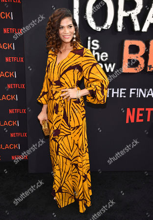 "Stock Image of Laura Gomez attends the final season premiere of Netflix's ""Orange Is the New Black"" at Alice Tully Hall, in New York"