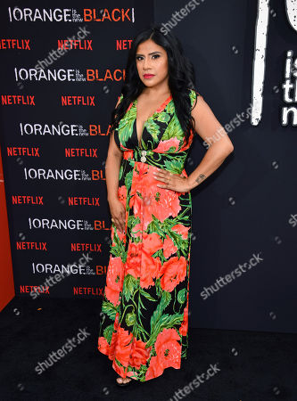 """Melinna Bobadilla attends the final season premiere of Netflix's """"Orange Is the New Black"""" at Alice Tully Hall, in New York"""